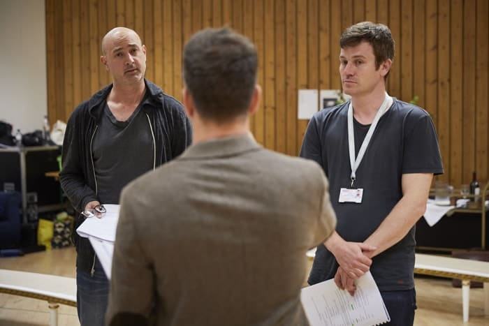 l-r Daniel Stewart and Anthony Shuster in rehearsal for 'Oslo' - photo credit Brinkhoff Mögenberg.