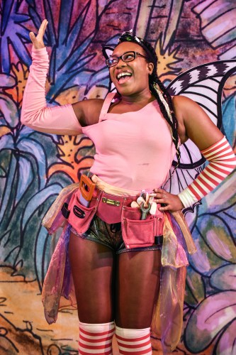 Krystal Dockery as Tinkerbell in Peter Pan A New Adventure at Greenwich Theatre, photo credit Robert Day
