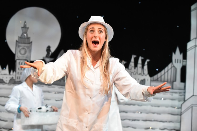Louise Young as Wendy in Peter Pan A New Adventure at Greenwich Theatre, photo credit Robert Day