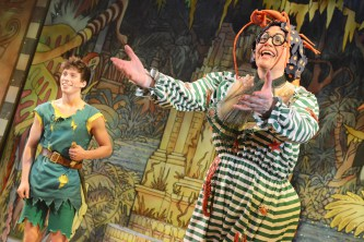 Rory Maguire as Peter and Andrew Pollard as Long Joan Silver in Peter Pan - A New Adventure, photographer credit Robert Day