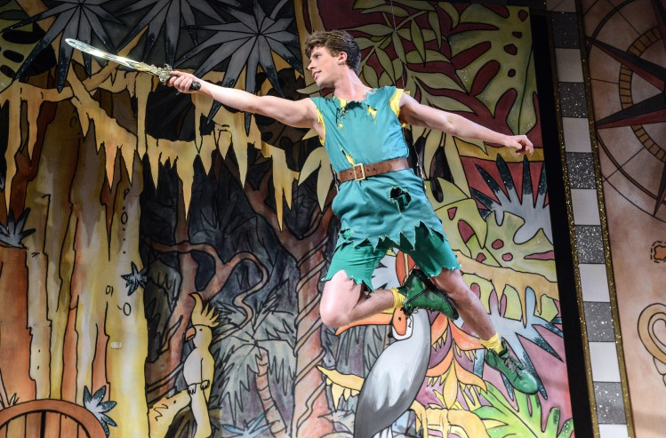 Rory Maguire as Peter in Peter Pan A New Adventure at Greenwich Theatre, photo credit Robert Day