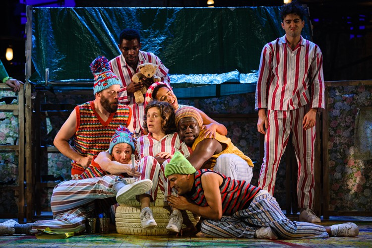 Wendy (Madeleine Worrall) and the lost boys, PETER PAN (c) Steve Tanner