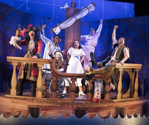 Company of Peter Pan Goes Wrong - image credit Alistair Muir
