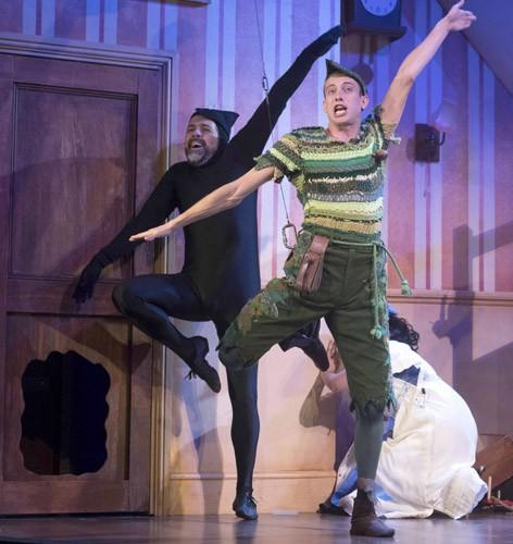 Peter Pan Goes Wrong - Daniel Pitout (Jonathan) and Oliver Senton (Robert) - image credit Alistair Muir