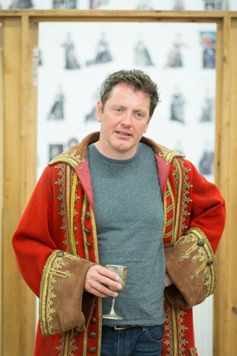 Hywel Morgan as Prince George in rehearsals for Queen Anne. Credit Marc Brenner