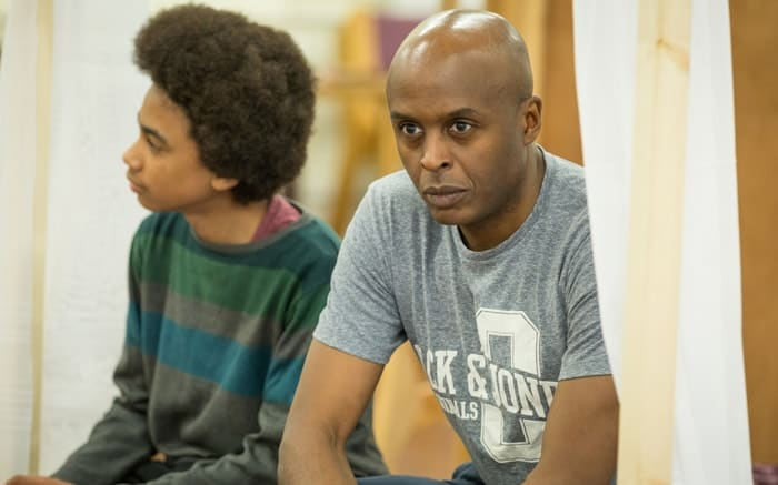 Chu Omambala as John Churchill in rehearsals for Queen Anne. Credit Marc Brenner