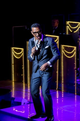 THE RAT PACK - LIVE FROM LAS VEGAS 3 David Hayes (Sammy Davis Jr) Photo Betty Zapata