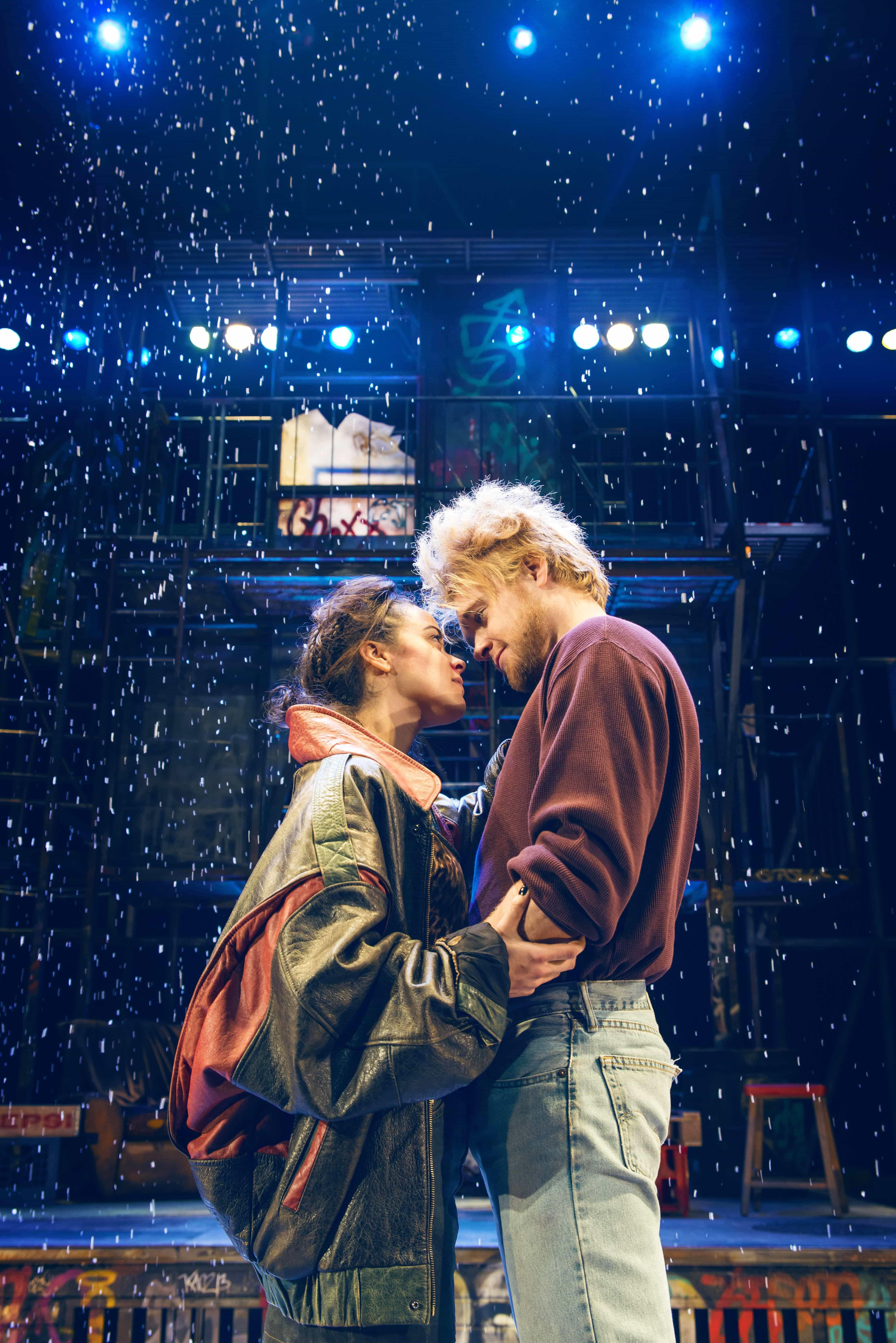 LtoR Philippa Stefani as Mimi and Ross Hunter as Roger in RENT. Credit Matt Crockett