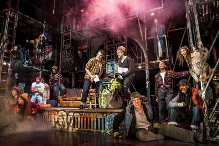 The cast of RENT. Credit Matt Crockett