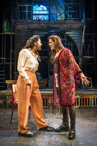 LtoR Shanay Holmes as Joanne and Lucie Jones as Maureen in RENT. Credit Matt Crockett