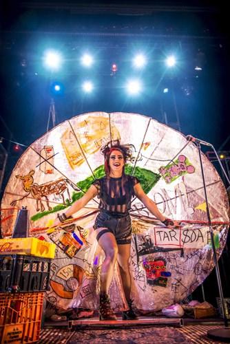 Lucie Jones as Maureen in RENT. Credit Matt Crockett