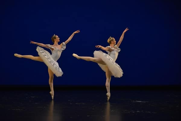 Marianne Allen and Kamila Sizinceva - LRBS students performing in 'Paquita' in 'Celebration!' at Sadler's Wells (courtesy Igor Zakharkin)-