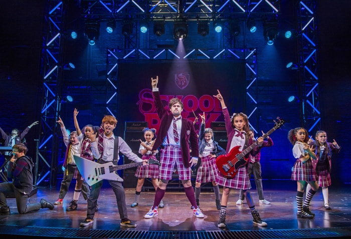 The West End cast of School of Rock The Musical. Photo credit Tristram Kenton