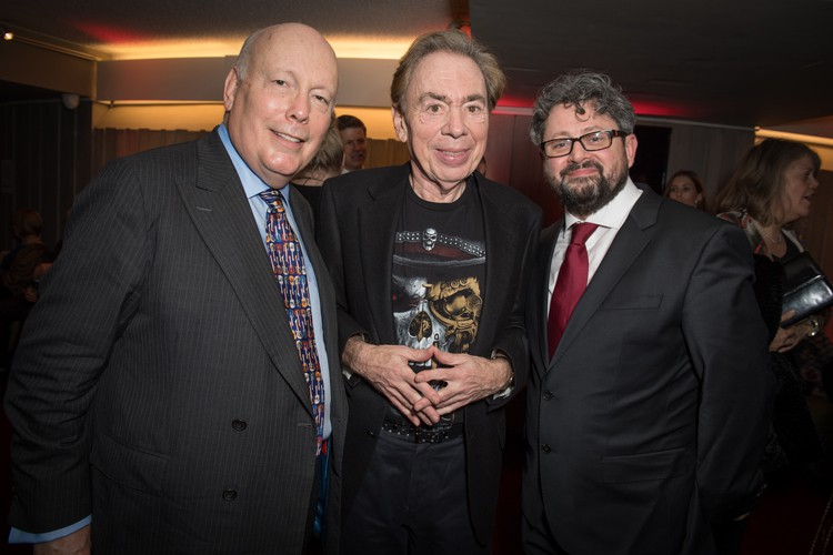 l-r Julian Fellowes, Andrew Lloyd Webber, Laurence Connor (photo Craig Sugden)