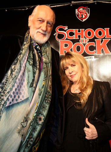 Mick Fleetwood and Stevie Nicks pose at the Opening Mick Fleetwood (Photo by Bruce Glikas/FilmMagic)