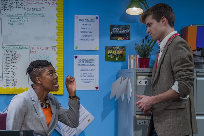School Play Ann Ogbomo (Jo) and Oliver Dench (Tom) Credit Guy Bell