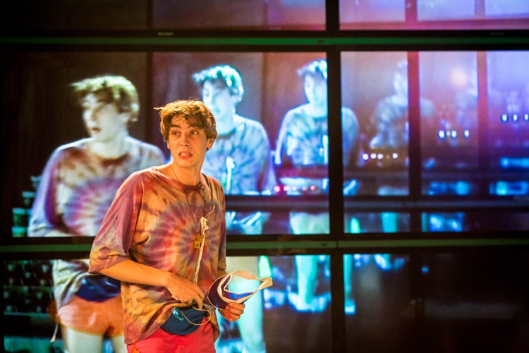 Alex Arnold as Robbie in Shopping and F***king Lyric Hammersmith Photo by Helen Murray