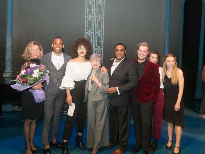 Janie Dee, Shaq Taylor (2nd place), Izuka Hoyle (winner), Julia McKenzie, Clive Rowe, Oscar Conlon-Morrey, Georgia Frost and Katie Buchholz Credit David Ovenden