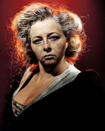 Sarah Ingram as Mrs Lovett in Sweeney Todd - Photograph by Darren Bell