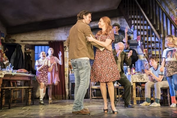 Owen McDonnell and Rosalie Craig in the current cast of The Ferryman. Credit Johan Persson