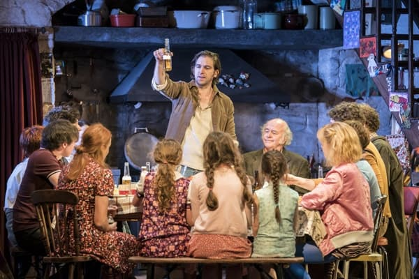 Owen McDonnell and the cast of The Ferryman. Credit Johan Persson