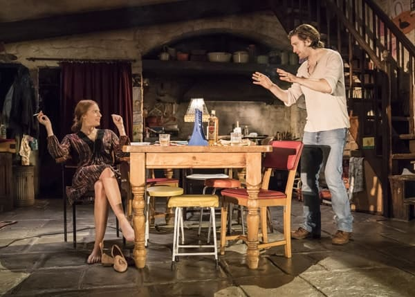 Rosalie Craig and Owen McDonnell and the cast of The Ferryman. Credit Johan Persson
