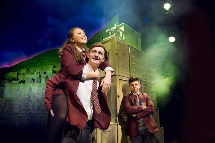 LtoR Chloe May Jackson as Jenny, Ben Hunter as Danny and Josh Benson as Tommo in THE GIRLS. Credit Matt Crockett, Dewynters
