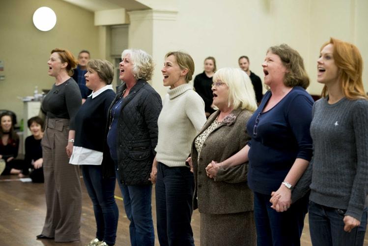 The cast in rehearsals for The Girls, credit Matt Crockett (2)-min