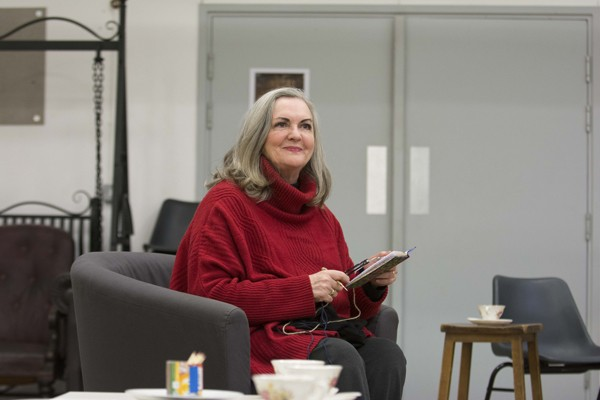 Gwen Taylor in rehearsals for THE IMPORTANCE OF BEING EARNEST. Photo credit James Findlay (3)