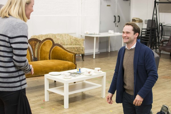 Kerry Ellis & Peter Sandys-Clarke in rehearsals for THE IMPORTANCE OF BEING EARNEST. Photo credit James Findlay