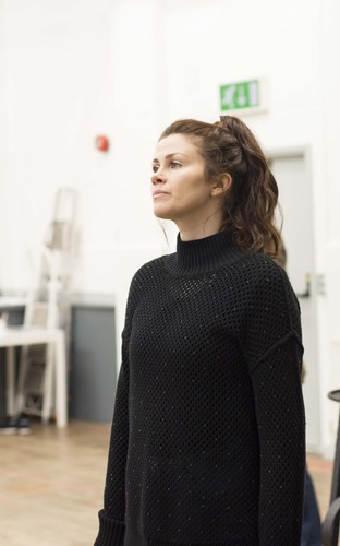 Louise Coulthard in rehearsals for THE IMPORTANCE OF BEING EARNEST. Photo credit James Findlay