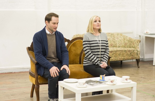 Peter Sandys-Clarke & Kerry Ellis in rehearsals for THE IMPORTANCE OF BEING EARNEST. Photo credit James Findlay (2)