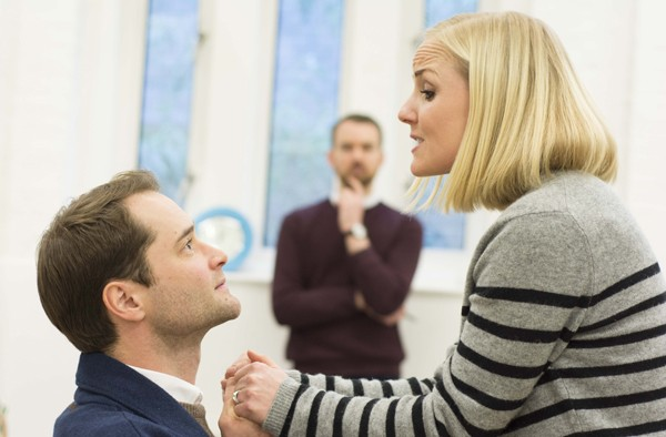 Peter Sandys-Clarke & Kerry Ellis in rehearsals for THE IMPORTANCE OF BEING EARNEST. Photo credit James Findlay (3)