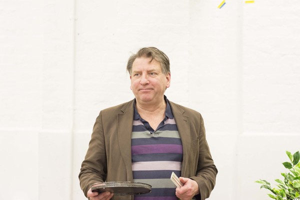 Simon Shackleton in rehearsals for THE IMPORTANCE OF BEING EARNEST. Photo credit James Findlay (2)