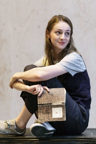 Helena Wilson (Bollette) in rehearsals for The Lady from the Sea at the Donmar Warehouse. Photo by Manuel Harlan