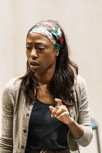 Nikki Amuka-Bird (Ellida) in rehearsals for The Lady from the Sea at the Donmar Warehouse. Photo by Manuel Harlan