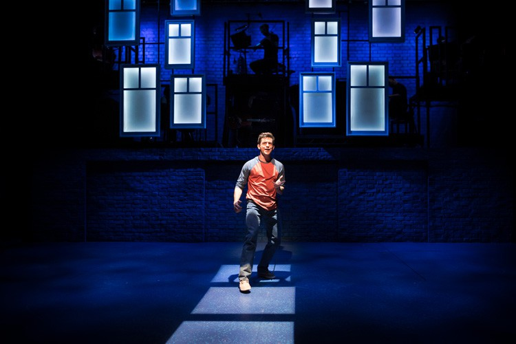 Jonathan Bailey as Jamie in THE LAST FIVE YEARS at St James Theatre. Photo Scott Rylander
