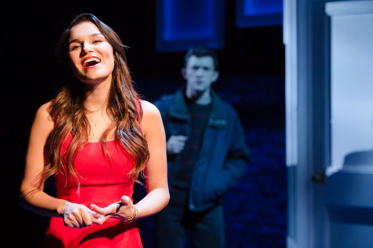 Samantha Barks as Cathy and Jonathan Bailey as Jamie in THE LAST FIVE YEARS at St James Theatre. Photo Scott Rylander (2)