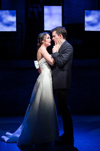 Samantha Barks as Cathy and Jonathan Bailey as Jamie in THE LAST FIVE YEARS at St James Theatre. Photo Scott Rylander