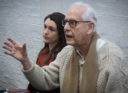 REHEARSAL IMAGE - Michael Blakemore (Director) - Photo by Conrad Blakemore