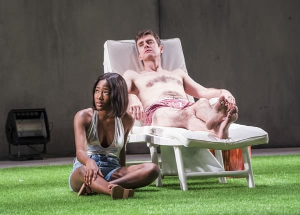 Adelayo Adedayo (Nina) and Paul Higgins (Hugo). Photo - Tristram Kenton