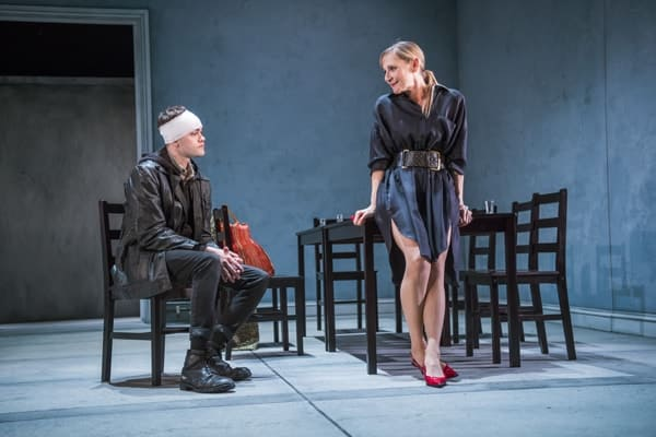 Brian Vernel (Konstantin) and Lesley Sharp (Irina). Photo - Tristram Kenton