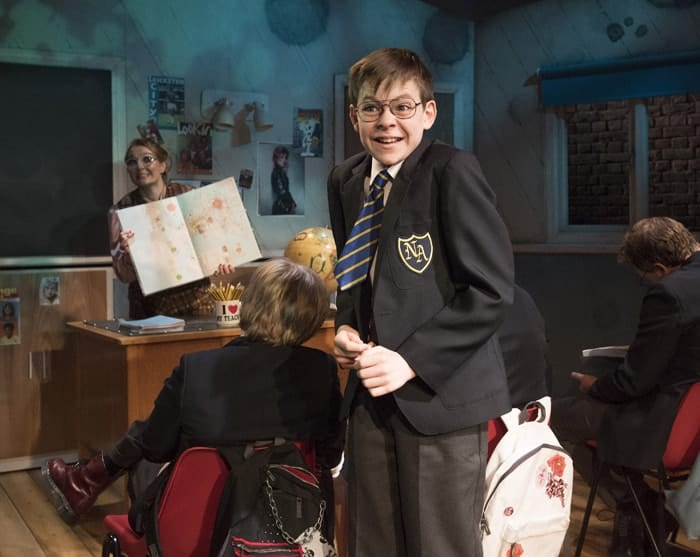 The Secret Diary of Adrian Mole Aged 13 ¾ - The Musical. Benjamin Lewis (Adrian). Credit - Alastair Muir