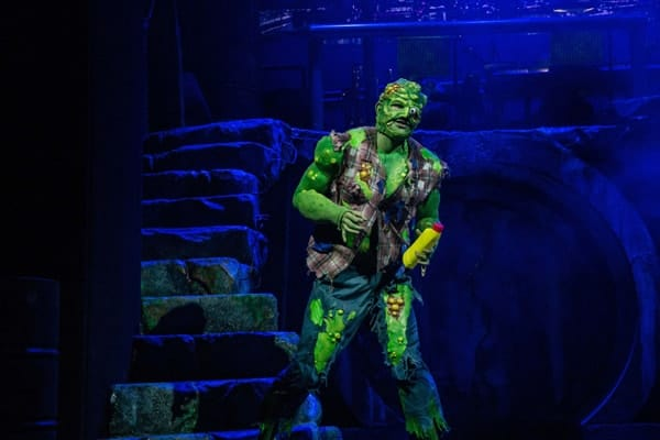 THE TOXIC AVENGER THE MUSICAL Mark Anderson as Toxie Phorto Irina Chira