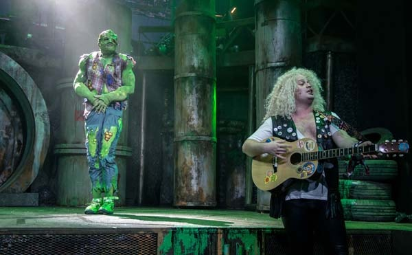 THE TOXIC AVENGER THE MUSICAL - Mark Anderson as Toxie Oscar Conlon-Morrey Photo Irina Chira