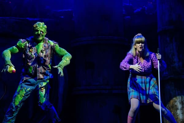 THE TOXIC AVENGER THE MUSICAL - Mark Anderson as Toxie Emma Salvo as Sarah Phorto Irina Chira