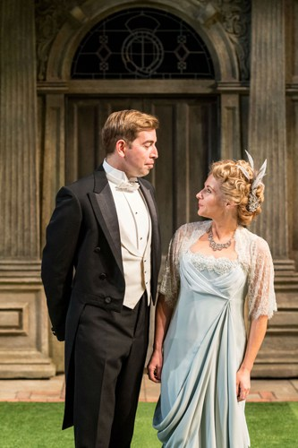 Edward Bennett and Lisa Dillon in RSC & Chichester Festival Theatre's production of Loves Labour's Lost. Photo by Manuel Harlan