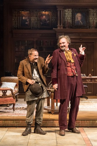 Nick Haverson and John Hodgkinson in RSC & Chichester Festival Theatre's production of Loves Labour's Lost. Photo by Manuel Harlan