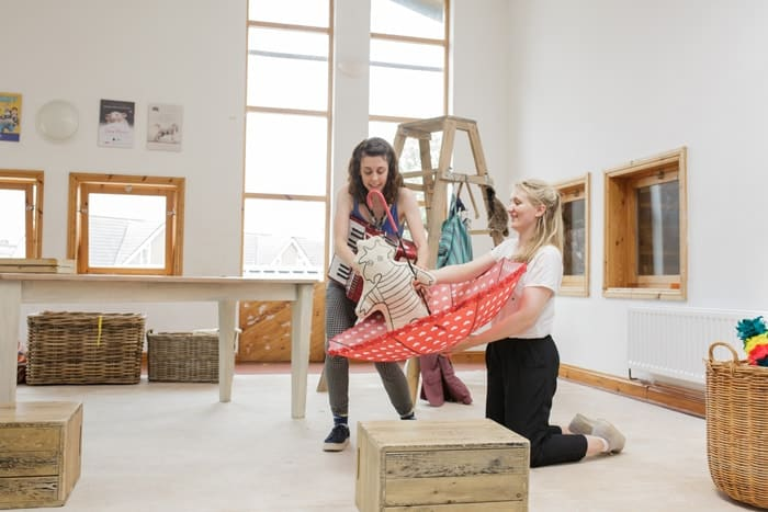 Tiddler and Other Terrific Tales - Lauren Silver and Leonie Spilsbury (courtesy of Paul Blakemore)