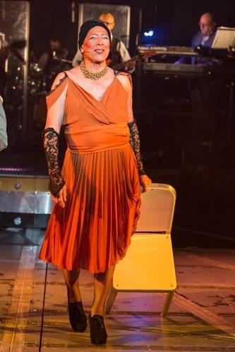 Peter Straker as the Acid Queen. Photo Credit Mike Kwasniak